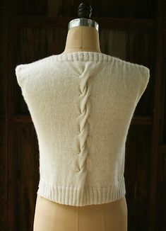 Ravelry: Cable Back Shell pattern by Purl Soho