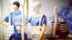 Batela Marine Stripes & Complements, Carla LLimona Shop Summer Decoration, Stripes, Chair, Furniture, Shopping, Home Decor, Decoration Home, Room Decor, Home Furnishings