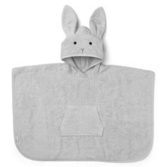 Shop the cute Liewood Orla Rabbit Poncho in Dumbo Grey, made from organic cotton terry, perfect for bathtime, swim time or days at the beach! Warm Showers, After Bath, Hipster Babies, Swedish Brands, Baby Towel, Animal Faces, Coton Biologique, Textiles, Cuddles