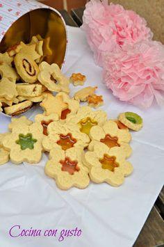Galletas de cristal con caramelos