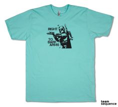 Right To Bare Arms  Light Aqua T-Shirt  American by teamsequence