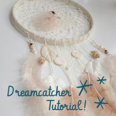 I need to make this exact dream catcher! how to make a dream catcher Lace Dream Catchers, Beautiful Dream Catchers, Dreamcatchers, Diy Projects To Try, Craft Projects, Craft Ideas, Decor Ideas, Dream Catcher Tutorial, Sky Design