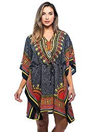 Riviera Sun African Print Dashiki Caftan For Women at Women's Clothing store: African Tops, African Dresses For Women, African Print Dresses, African Print Fashion, Africa Fashion, Fashion Prints, African Skirt, African Dashiki, African Outfits
