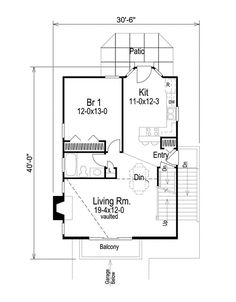 Plan 57026HA: Compact Home Plan For Sloping Lot