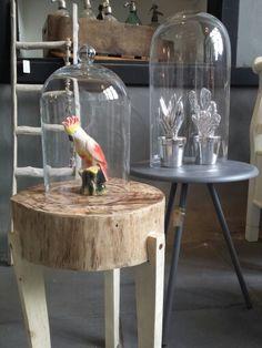Stoere houten kruk uit eigen atelier! @vanetje