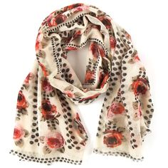 Pine Cone Hill Scarf Rose Dots $98
