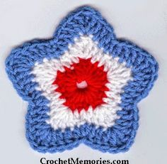 Celebrate the 4th in style with our cute star shaped coasters worked up in worsted weight yarn. Red, white and blue - it's all American and...