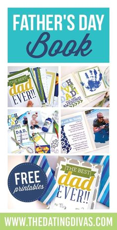 Free Fathers Day gift idea- best dad ever book! All About Dad.
