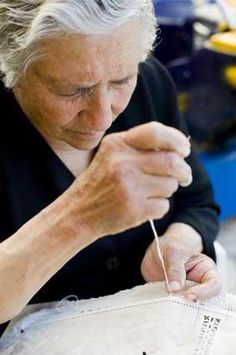 """Cyprus Tradition. Lefkara village has a history of producing wonderful traditional kind of lace known the world over as """"lefkaritika"""". Legend has it that Leonardo da Vinci himself came here and bought an altar cloth, which he donated to Milan cathedral."""