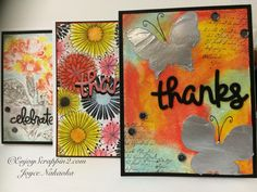 Faber-Castell Design Memory Craft™ 3 Easy Techniques with Gelatos® Tutorial available http://enjoyscrappin2.com