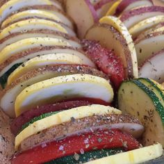 Summer Vegetable Stack before the oven.