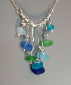 WATERFALL Necklace by carolynrochedesigns on Etsy