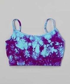 Another great find on #zulily! Sky Blue & Pink Tie-Dye Sports Bra by Malibu Sugar #zulilyfinds