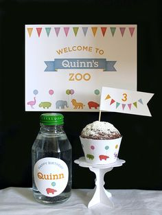 Zoo Birthday Party Kit. Finally done! Come check out the whole deal on Etsy. Now available here: https://www.etsy.com/shop/BriefcanGraphics