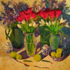 Grand Tulips or- Forever Spring, painting by artist Roxanne Steed