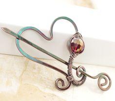 Heart shape shawl pin