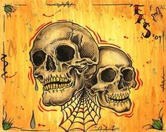 Laugh Now , Cry Later Skullz by EricScsavnickiTattoo