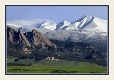 Flat Irons and Continental Divide, Boulder, CO.