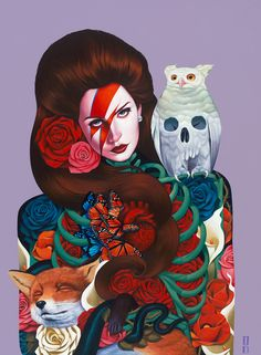 Gustavo Rimada, Paintings.Wow. I am so in love with and blown away by the work of California based artist Gustavo Rimada. He mixes contemporary influences with classical imagery and Mexican folklore...