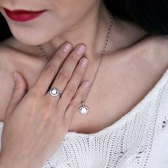 Love heart necklace/earrings Statement jewelry sets eManco 2016 new Cubic Zirconia copper Wholesale Women Jewellery BS00024