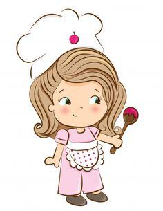 Cozinheiro doce Vetor Premium | Premium Vector #Freepik #vector #livro Mini Tortillas, Eid Crafts, Baking Utensils, Kawaii Doodles, Cooking Chef, Clipart, Cute Girls, Chibi, Hello Kitty