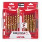 Milwaukee Titanium Shockwave Drill Bit Kit (29-Piece)-48-89-4632 - The Home Depot
