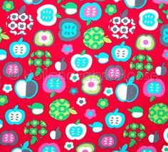 Cotton apple fabric childrens fabric kids by HollandFabricHouse