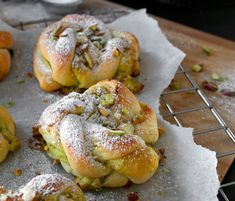 Plans for tomorrow. Baking and bowling with my nephew 👊🏻😁 . We will be making these amazing pistachio buns, regular cinnamon buns, and of course coconut buns😋😋😋 . All the recipe links are in my highlight «Recipes I Love Food, Good Food, Yummy Food, Sweet Desserts, Delicious Desserts, Coconut Buns, Low Carb Bars, Norwegian Food, Norwegian Recipes