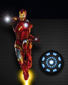 Marvel's Iron Man as background screen for Apple Watch. If you have an Apple Watch, this image will fit both Apple Watch size screens.