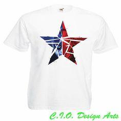 Cracked Star Captain America Civil War T-Shirt