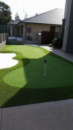 be3a9a7afba3 Backyard putting green, made with Pure Putt turf Backyard Baseball, Backyard  Sports, Cozy