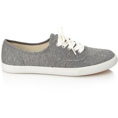 FOREVER 21 Classic Plimsolls ($13) ❤ liked on Polyvore featuring shoes, sneakers, sapatos, zapatos, grey, gray shoes, laced shoes, low heel shoes, forever 21 shoes and plimsoll sneaker