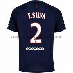 Billige Fotballdrakter Paris Saint Germain Psg 2016-17 T. Silva 2 Hjemme Draktsett Kortermet