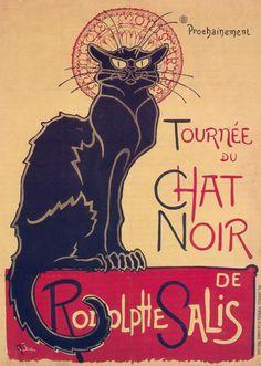Chat Noir poster (1896). Theophile Steinlen