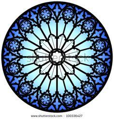 Gothic rose window/illustration