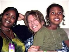 David's stepdaughter, Zulekha Haywood & his daughter, Alexandria Zahra Jones
