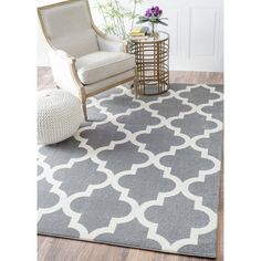 Found it at Wayfair - Sherrer Gray Area Rug