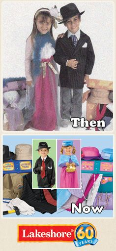 From generation to generation, children love to play dress-up with Grandma's Dress-Up Trunk! It's filled with mix & match costumes that turn children into any one of a thousand characters! www.LakeshoreLearning.com/Pin2WinRewind