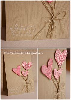 st valentin Plus Valentine Day Cards, Valentine Crafts, Holiday Cards, Saint Valentine, Be My Valentine, Love Cards, Diy Cards, Sei Mein Valentinsschatz, Valentines Bricolage