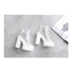 Korean Fashion Transparent High-heeled Platform Boots SD00233