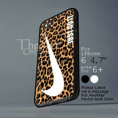 nike just do it leopard pattern Iphone 6 note for  6 Plus