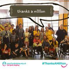 """@easyuk #thanksamillion Cambridge joint playscheme"" #Fundraising #Giving #Charity"