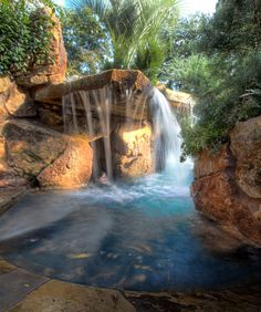 Cool Backyard Pond Design Ideas for You Who Likes Nature - Bailee News Amazing Swimming Pools, Swimming Pool House, Swimming Pool Designs, Outdoor Ponds, Ponds Backyard, Backyard Landscaping, Outdoor Fountains, Grotto Pool, Backyard Pool Designs