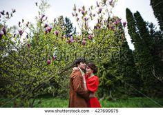 Red dress velvet kiss