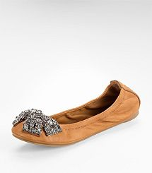 EDDIE BALLET FLAT WITH CRYSTAL BOW- Love my shoes! They are comfortable, soft and sparkly!