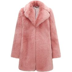 Whistles Kumiko Faux Fur Coat (425 BAM) ❤ liked on Polyvore featuring outerwear, coats, jackets, coats & jackets, tops, pink, pink coat, pink faux fur coats, faux fur coat and whistles coat