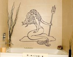 Mermaid - Wall Decals / Wall Tattoo - MARITIME - BATH & SPA