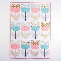 = free pattern = Amsterdam (tulip) quilt at Cloud 9 Fabrics by aimee