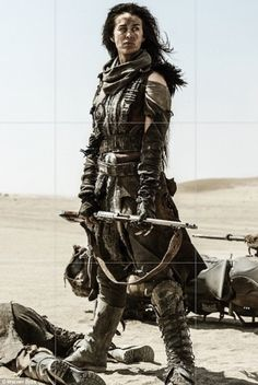 From catwalks to films: On Wednesday Megan shared the first image of her Mad Max: Fury Road character, Valkyrie a week before the film is released in Australia