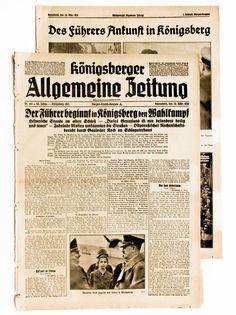 1938 Königsberger Allgemeine Zeitung Ostpreußen Kalinigrad Russland mit Photos